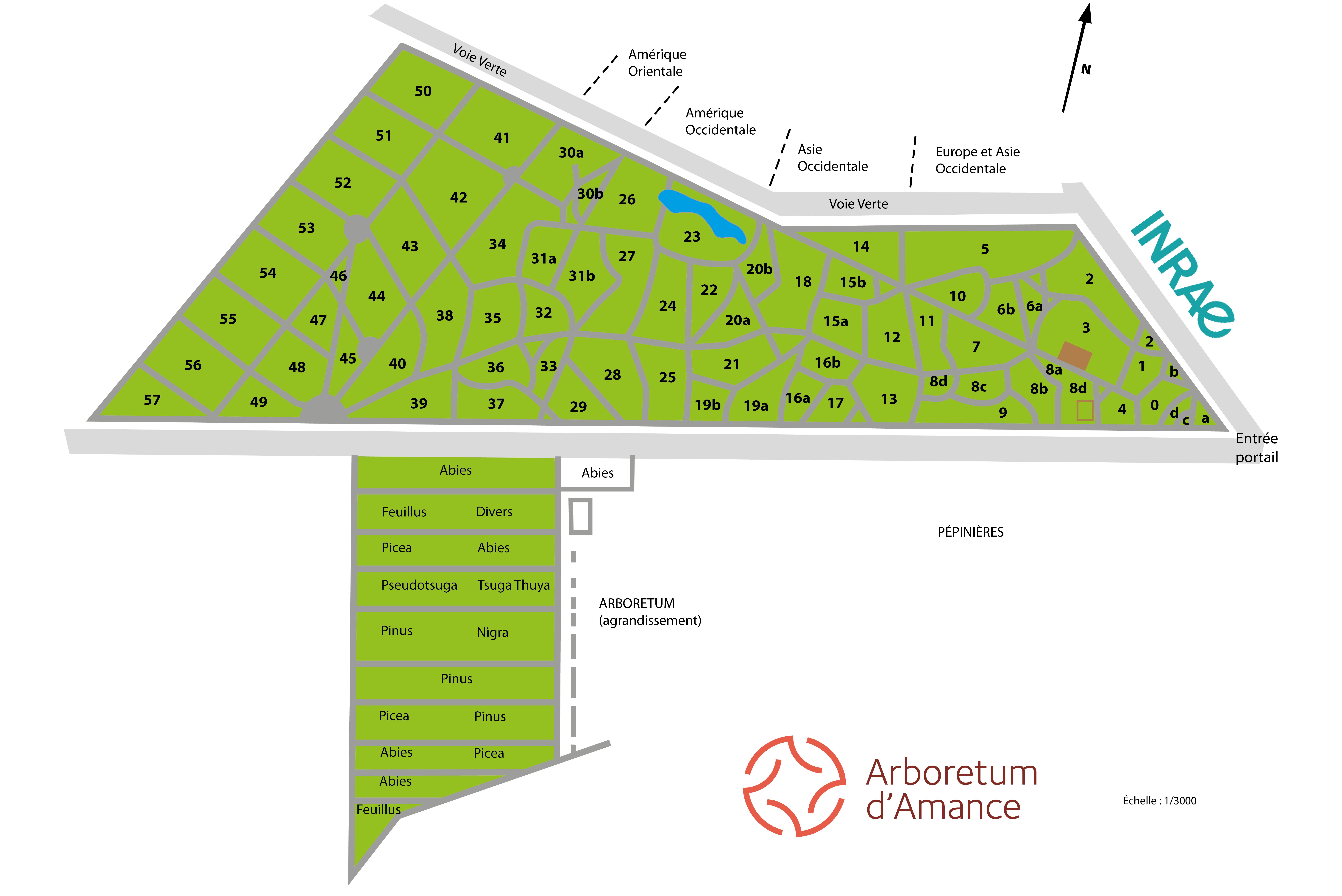 Plan de l'Arboretum (2)