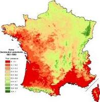 cartographie des conditions de milieu favorable au hêtre sur la France