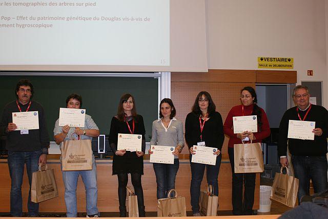lauréats du prix poster au journées scientifiques du GDR 2014