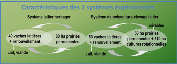 Unité INRA SAD ASTER Mirecourt - systèmes expérimentés